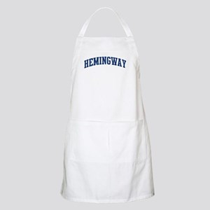 HEMINGWAY design (blue) BBQ Apron