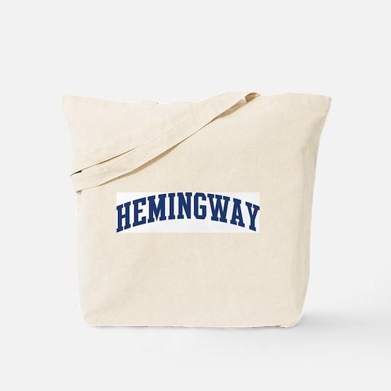 HEMINGWAY design (blue) Tote Bag