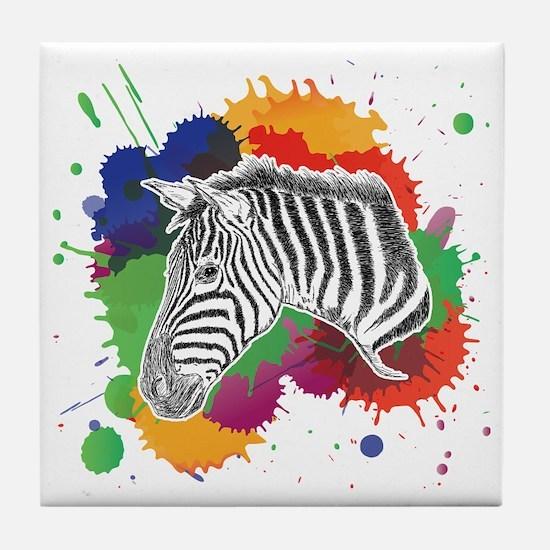 Cool Zebra Tile Coaster