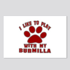 I Like Play With My Burmi Postcards (Package of 8)