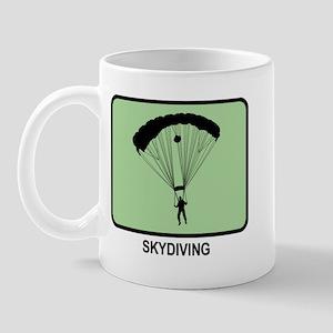 Skydiving (GREEN) Mug
