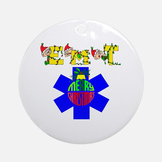 EMT Christmas Gift Ornament (Round)