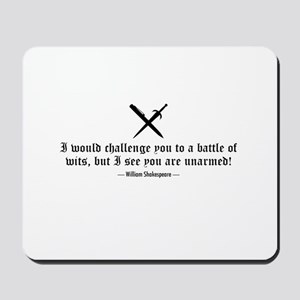 A Battle of Wits Mousepad
