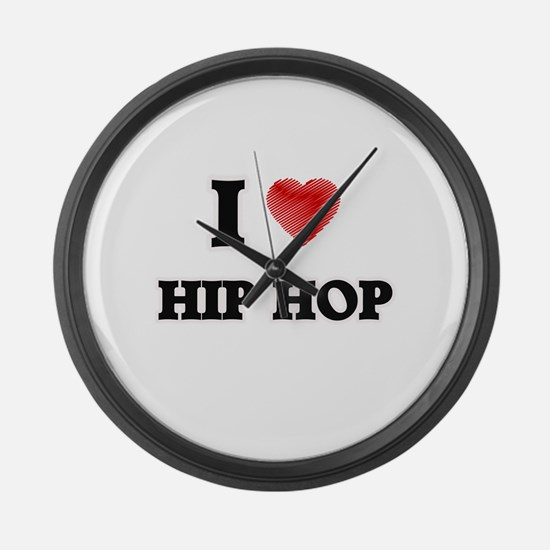 I Love Hip Hop Large Wall Clock