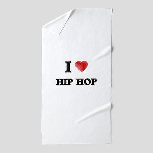 I Love Hip Hop Beach Towel