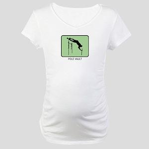 Pole Vault (GREEN) Maternity T-Shirt
