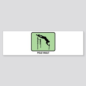 Pole Vault (GREEN) Bumper Sticker