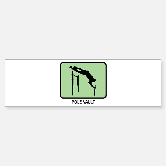 Pole Vault (GREEN) Bumper Bumper Bumper Sticker