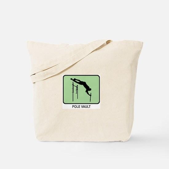 Pole Vault (GREEN) Tote Bag