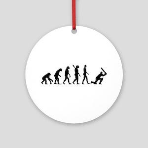 Evolution Cricket Round Ornament
