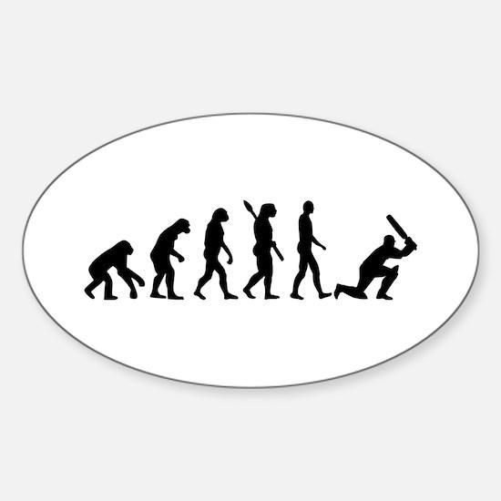 Evolution Cricket Sticker (Oval)
