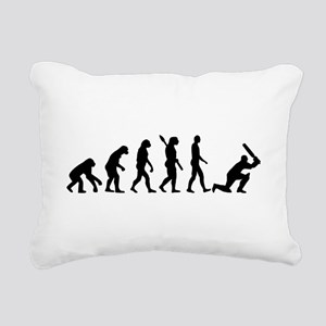 Evolution Cricket Rectangular Canvas Pillow