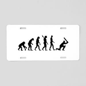 Evolution Cricket Aluminum License Plate