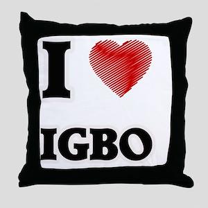 I Love Igbo Throw Pillow