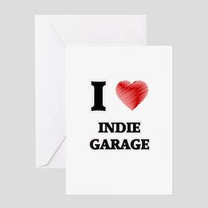 I Love Indie Garage Greeting Cards