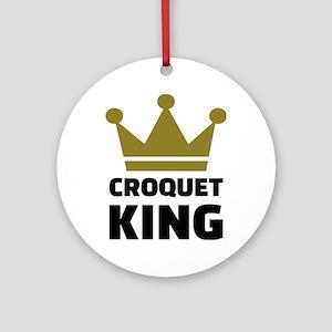 Croquet king champion Round Ornament