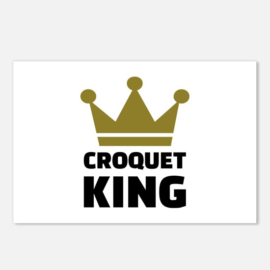 Croquet king champion Postcards (Package of 8)