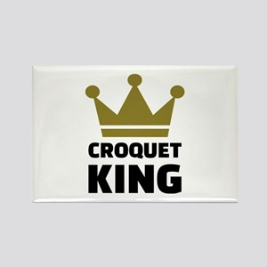 Croquet king champion Rectangle Magnet