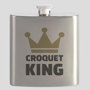 Croquet king champion Flask