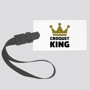 Croquet king champion Large Luggage Tag