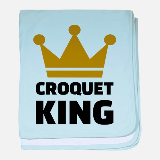 Croquet king champion baby blanket