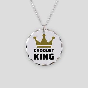 Croquet king champion Necklace Circle Charm