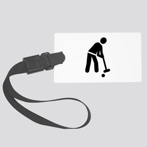 Croquet player Large Luggage Tag
