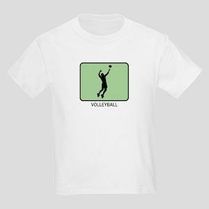 Mens Volleyball (GREEN) Kids Light T-Shirt