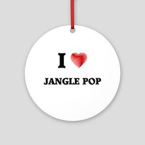 I Love Jangle Pop Round Ornament