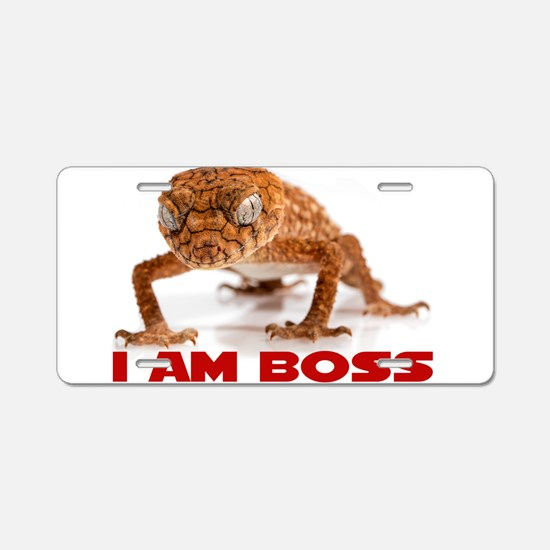 I Am Boss Aluminum License Plate