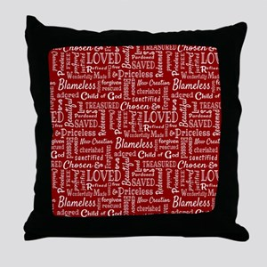 Loved, Chosen, and Redeemed Throw Pillow