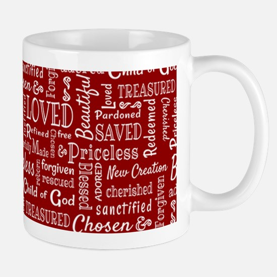 Loved, Chosen, and Redeemed Mugs