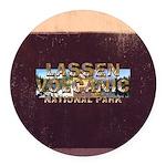 ABH Lassen Volcanic Round Car Magnet