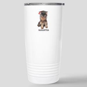 Graduation Yorkshire Terrier Travel Mug