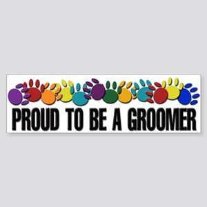 Proud To Be A Groomer Bumper Sticker