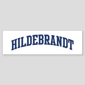 HILDEBRANDT design (blue) Bumper Sticker