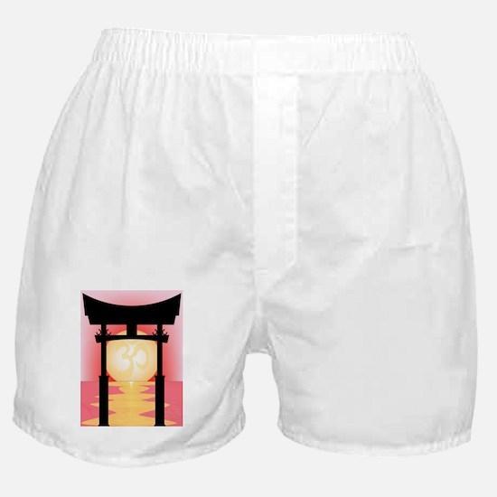 Cute Red sunrise Boxer Shorts
