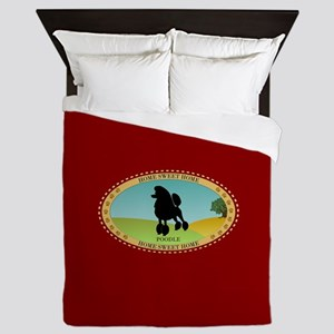 Home Sweet Home (poodle) Queen Duvet