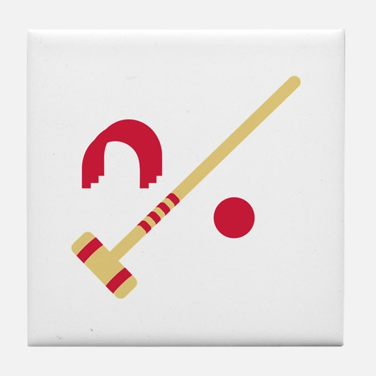 Croquet equipment Tile Coaster