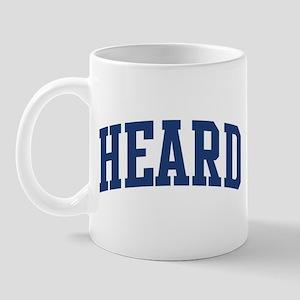 HEARD design (blue) Mug