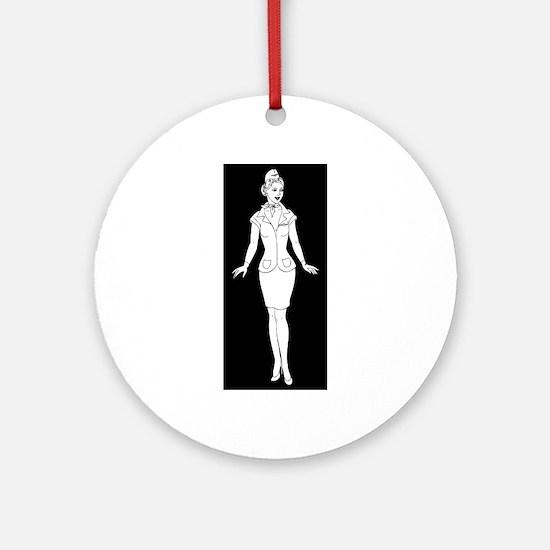 stewardess Round Ornament
