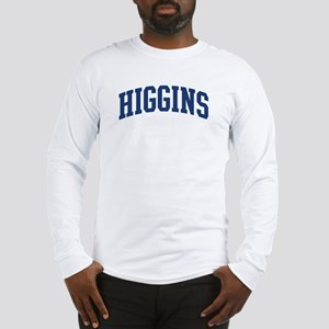 HIGGINS design (blue) Long Sleeve T-Shirt