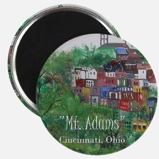 Mt. Adams - Cincinnati, Ohio, with title - Magnets