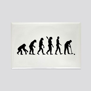 Evolution croquet Rectangle Magnet