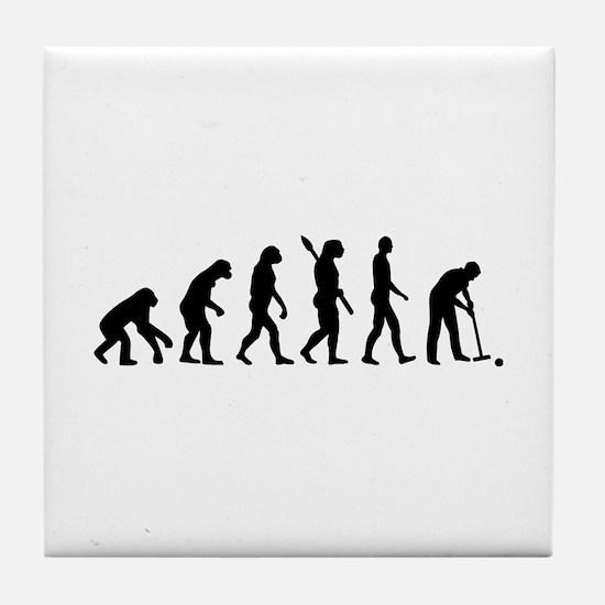 Evolution croquet Tile Coaster
