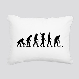Evolution croquet Rectangular Canvas Pillow