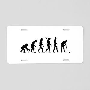 Evolution croquet Aluminum License Plate