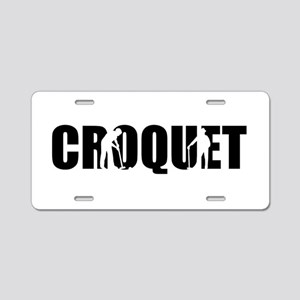Croquet Aluminum License Plate