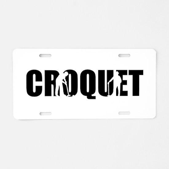Croquet Aluminum License Plate