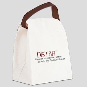 DistaffLogoBig Canvas Lunch Bag